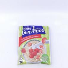 Каша Быстров овсяная с клубникой, 43 гр