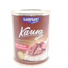 Каша рисовая ГлавПродукт со свининой 340 гр