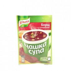 Суп Knorr Чашка Супа Борщ с сухариками, 14г
