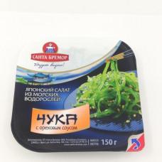 салат из морских водорослей Чука с ореховым соусом Санта-Бремор 150 гр