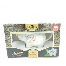 Подарочный набор Чай London Tea Club Assam черный с фарфоровым заварником, 60г