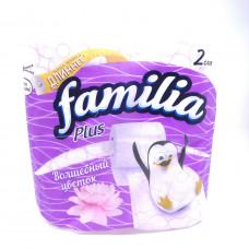 Бумага туалетная Familia Plus Волшебный цветок 2-х сл. 4 шт