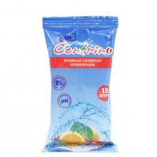 Влажные салфетки Centrino  Cotton, 15шт