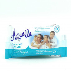 Влажные салфетки AQuella для всей семьи, 15шт.