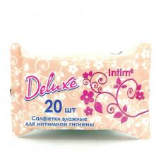 Влажные салфетки Deluxe Intim, 20шт.