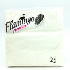 Бумажные салфетки Flamingo Premium белые, 25шт.