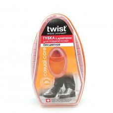 Губка для обуви Twist с дозатором для гладкой кожи Бесцветная, 1шт.
