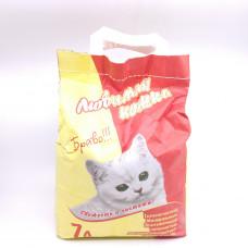 Наполнитель Любимая Кошка Браво для короткошестных кошек, 7 л
