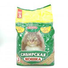 Наполнитель Сибирская кошка Лесной для кошек, 3 л