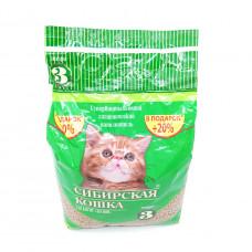 Наполнитель Сибирская кошка лесной для котят, 3 л
