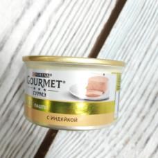 Консервы для кошек Gourmet Gold с индейкой 85гр ж/б