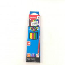 Набор карандашей Maped 6цв №25