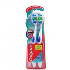 Зубная щетка Colgate 360, 1+1шт.