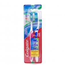 Зубная щетка Colgate Тройное действие 1+1