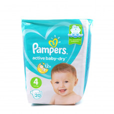 Подгузники Pampers Active baby-dry №4, 9-14кг 20шт.
