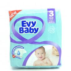 Подгузники Evy Baby midi, 5-9кг 27шт.
