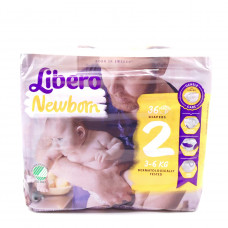 Подгузники Libero Newborn, 3-6кг 36шт.