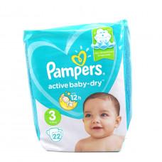 Подгузники Pampers Active baby-dry, 6-10кг 22шт.