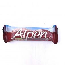 Alpen Батончик с молочным шоколадом и изюмом, 29 гр