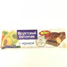 Батончик ОГО фруктовый с черникой, 30г
