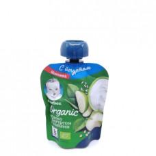 Пюре Gerber Organic яблоко с йогуртом и злаками 8+, 90гр