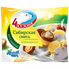 Смесь овощная 4 Сезона Сибирская грибы и картофель, 400 гр