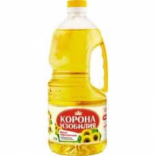 Масло Корона Изобилия подсолнечное рафинированное, 1,7 л