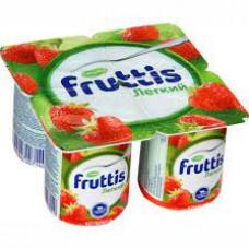 Йогурт Campina Fruttis Легкий Клубника 0.1%, 125 гр