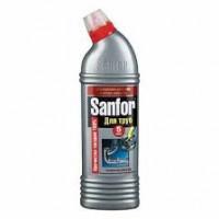 Sanfor гель для устранения засора и для очистки канализационных труб, 750 мл