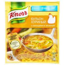 Бульон куриный Knorr с овощами и зеленью 75 гр