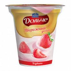 Десерт творожный Food Master Дольче 4% Клубника, 120 гр
