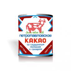 Какао со сгущенным молоком и сахаром Петропавловское Маслодел 7,5% 360 гр ж/б