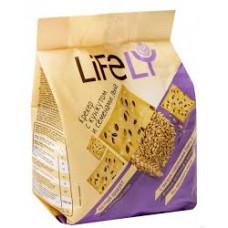 Крекер Life Ly с кунжутом и семенами льна 180 гр