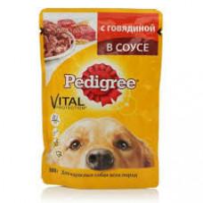 Корм для собак Pedigree с говядиной в соусе 85гр