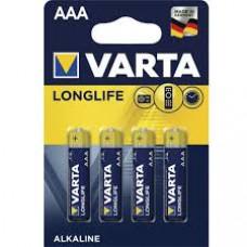 Батарейки Varta Long Life AAA 4 шт