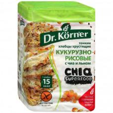 Хлебцы Dr. Korner кукурузно-рисовые с чиа и льном, 100 г