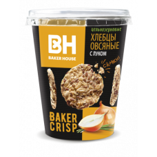 Хлебцы Baker Hause Цельнозерновые овсяные с луком 90 г