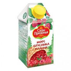 Морс Сады Придонья Брусника-Малина 0,5 л