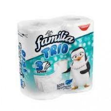 Бумага туалетная Familia Trio 3-х сл. 4 шт