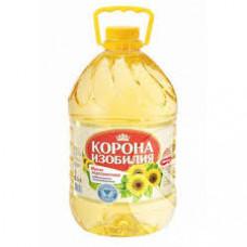 Масло Корона Изобилия подсолнечное рафинированное, 5 л