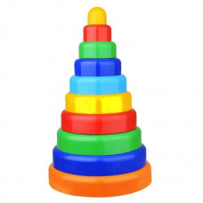 Пирамидка 38 см. 10 дет. ПИ000130